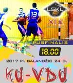 Šįvakar – LSKL I vaikinų grupės pusfinalio kovos
