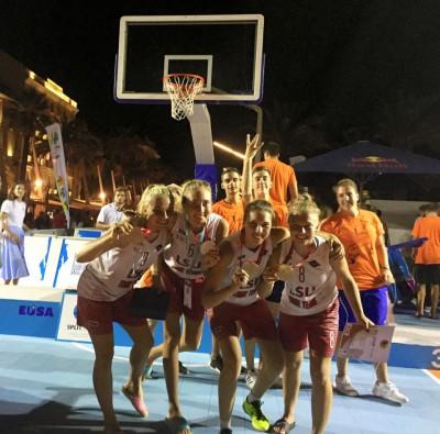 LSU merginos – Europos krepšinio 3×3 vicečempionės !!!