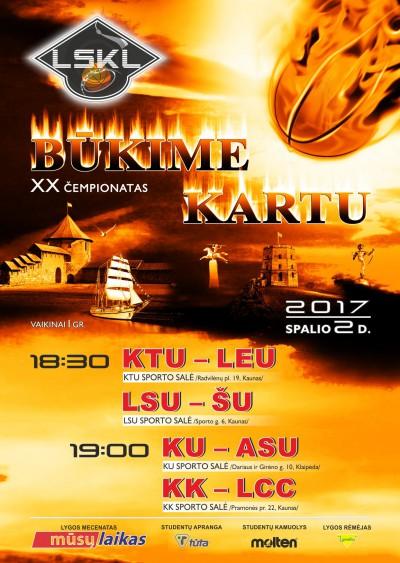 Spalio 2 dieną – jubiliejinio LSKL sezono startas (tvarkaraštis)