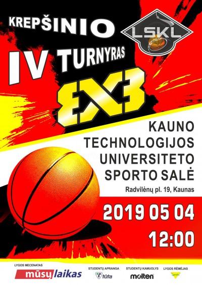 Šeštadienį KTU sporto salėje – LSKL 3×3 krepšinio turnyras